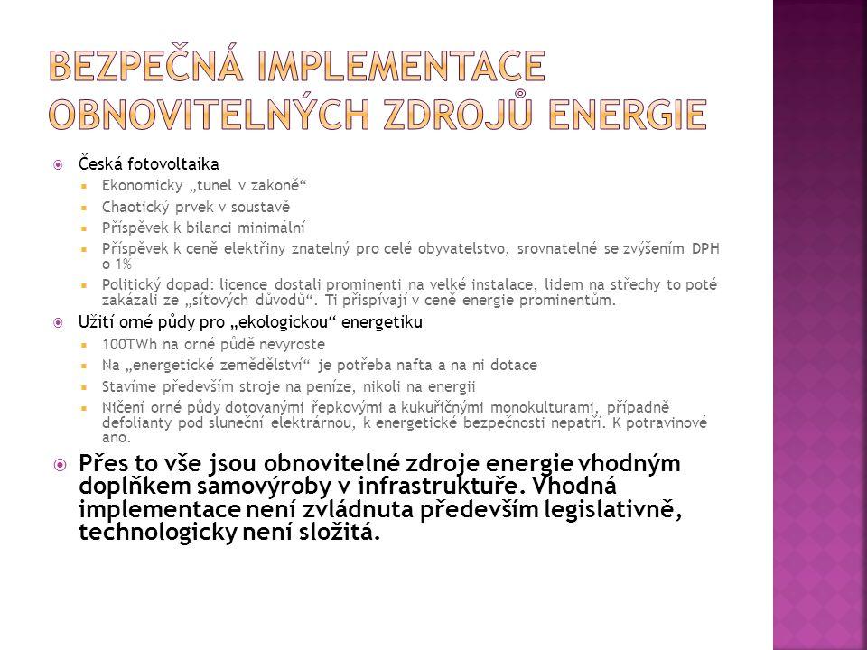 Bezpečná implementace obnovitelných zdrojů energie