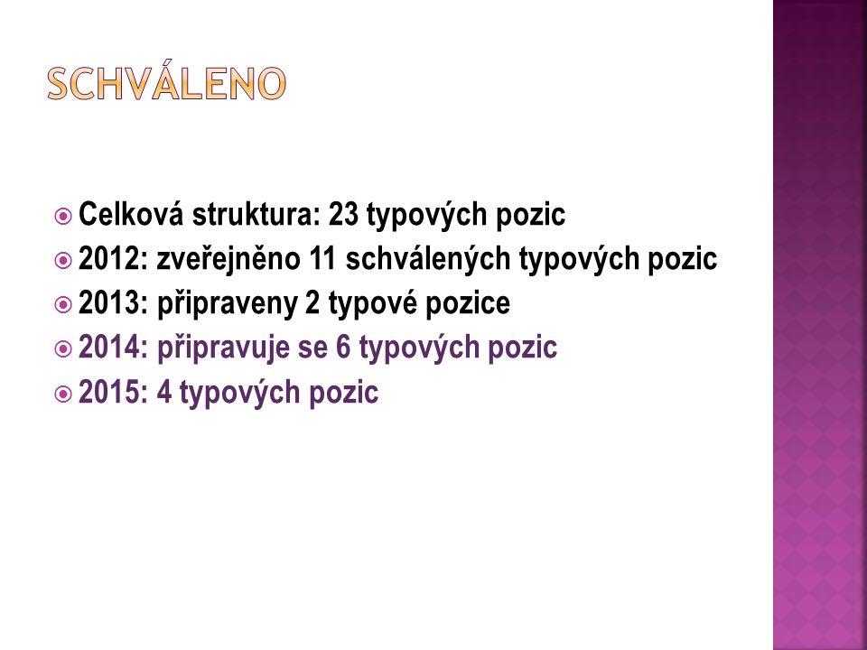 Schváleno Celková struktura: 23 typových pozic