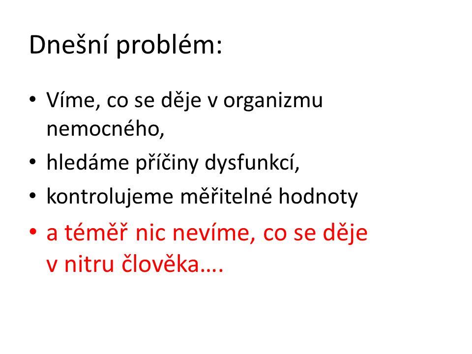 Dnešní problém: a téměř nic nevíme, co se děje v nitru člověka….