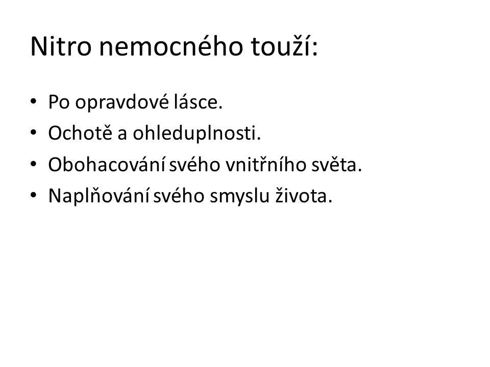 Nitro nemocného touží: