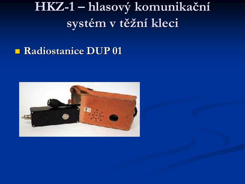 HKZ-1 – hlasový komunikační systém v těžní kleci