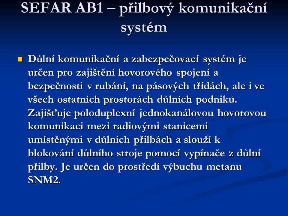 SEFAR AB1 – přilbový komunikační systém