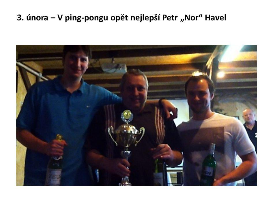 """3. února – V ping-pongu opět nejlepší Petr """"Nor Havel"""
