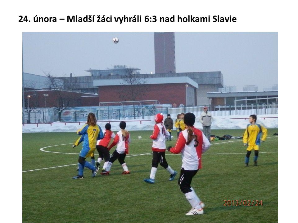24. února – Mladší žáci vyhráli 6:3 nad holkami Slavie