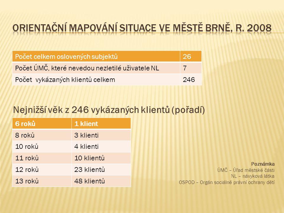 Orientační mapování situace ve městě Brně, r. 2008