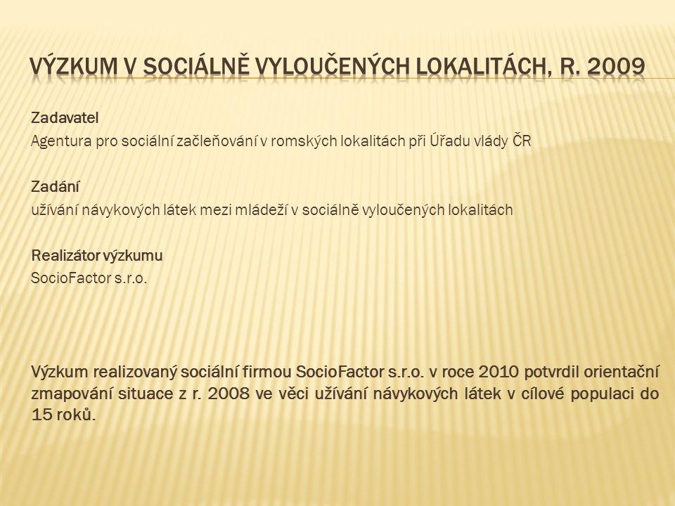 Výzkum v sociálně vyloučených lokalitách, r. 2009