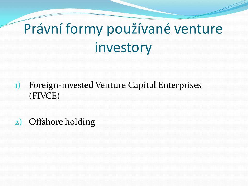 Právní formy používané venture investory