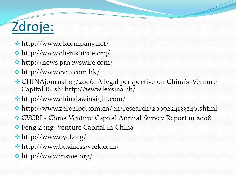 Zdroje: http://www.okcompany.net/ http://www.cfi-institute.org/