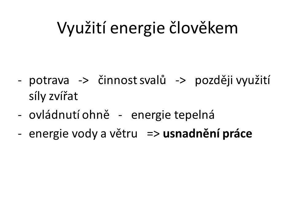 Využití energie člověkem