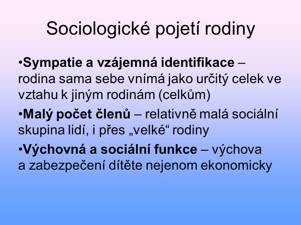 Sociologické pojetí rodiny