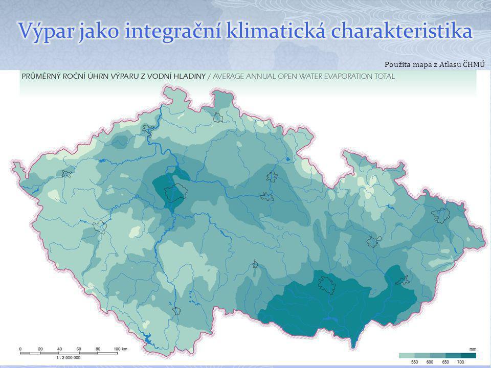 Výpar jako integrační klimatická charakteristika