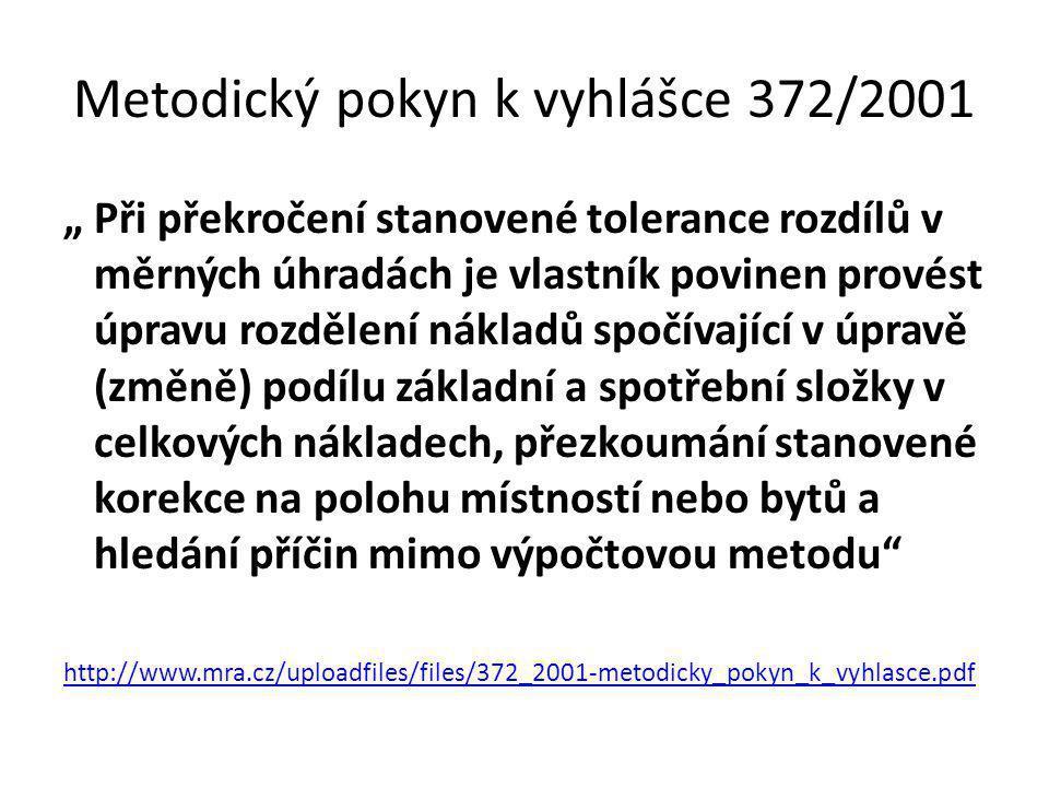 Metodický pokyn k vyhlášce 372/2001