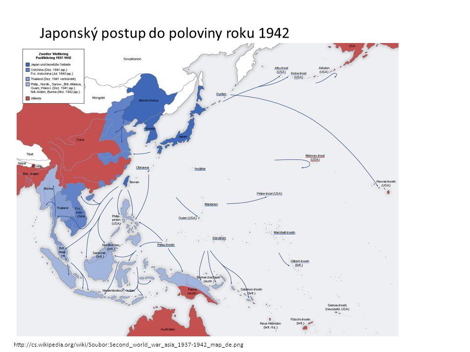 Japonský postup do poloviny roku 1942