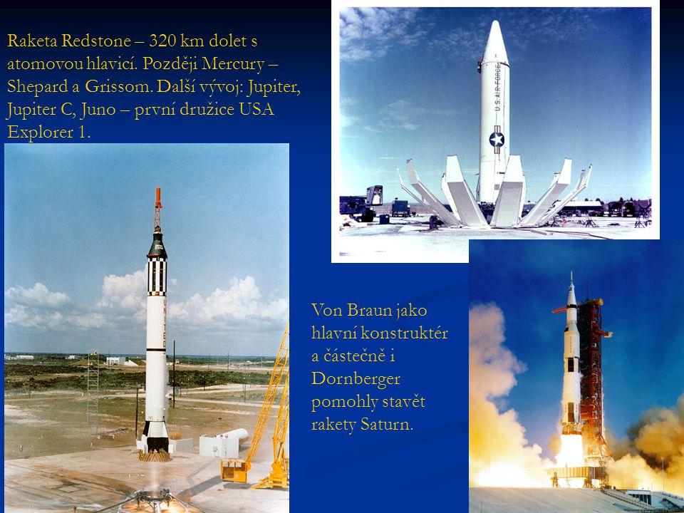 Raketa Redstone – 320 km dolet s atomovou hlavicí