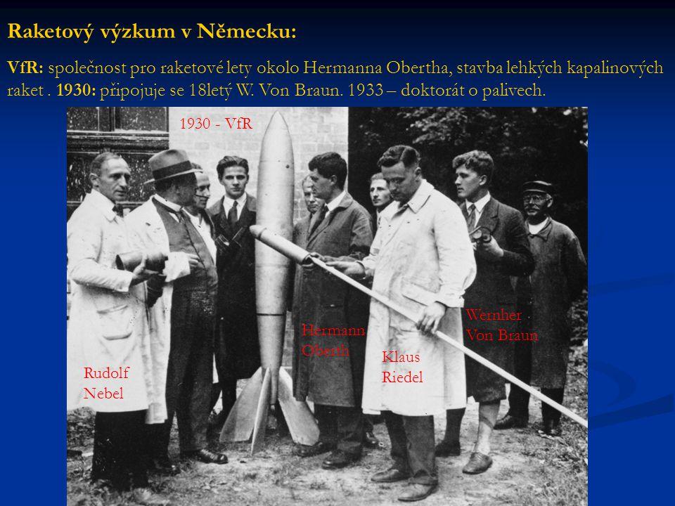 Raketový výzkum v Německu: