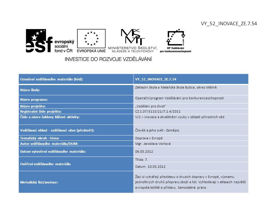 VY_52_INOVACE_ZE.7.54 Označení vzdělávacího materiálu (kód):