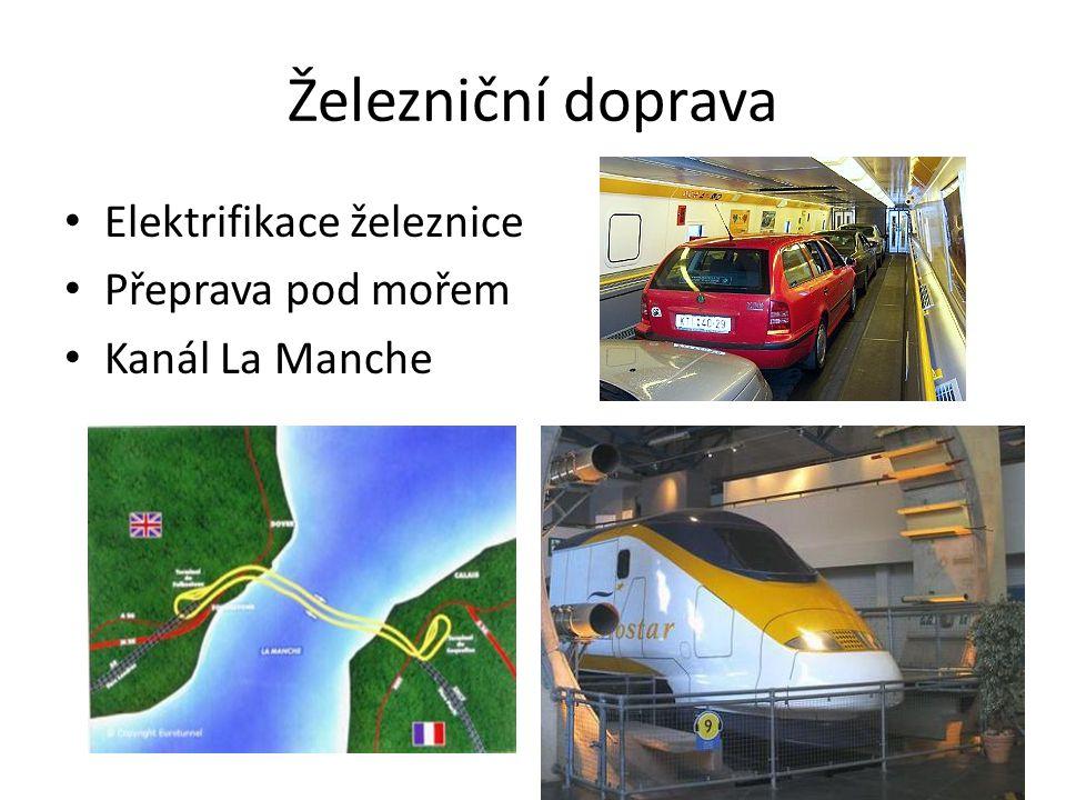Železniční doprava Elektrifikace železnice Přeprava pod mořem