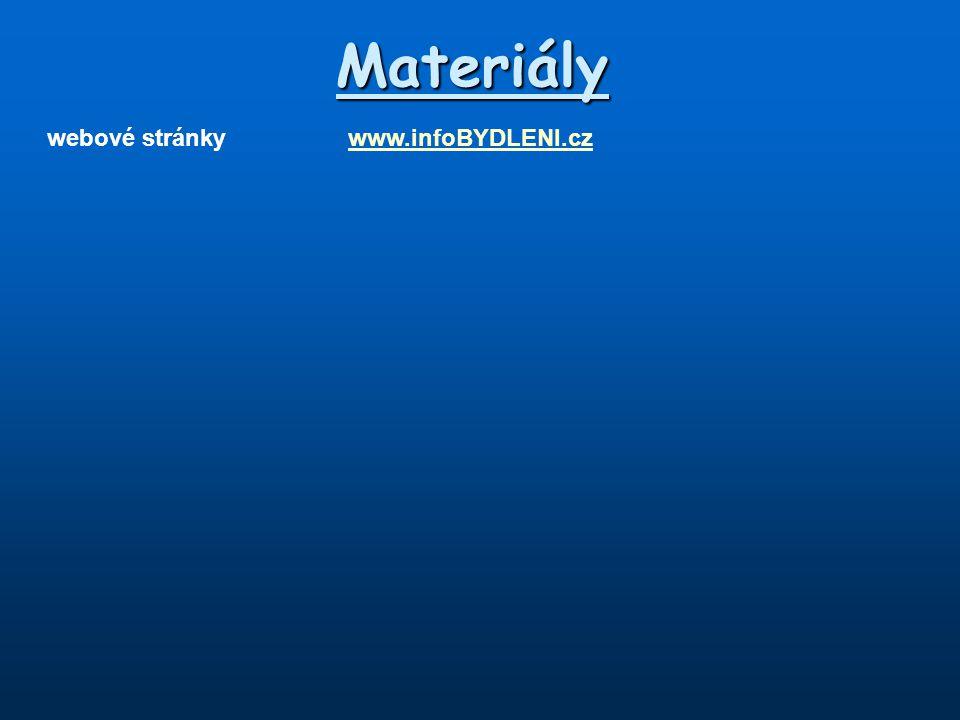 Materiály webové stránky www.infoBYDLENI.cz