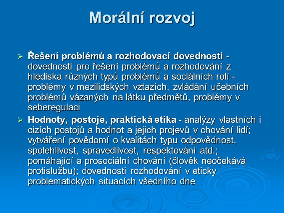 Morální rozvoj
