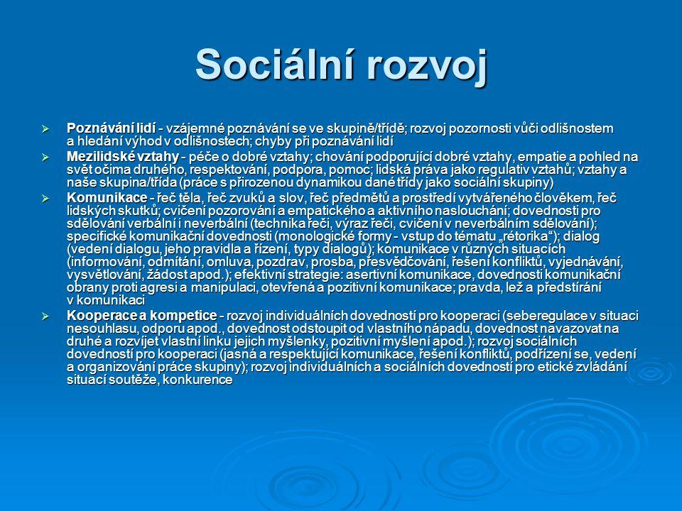 Sociální rozvoj