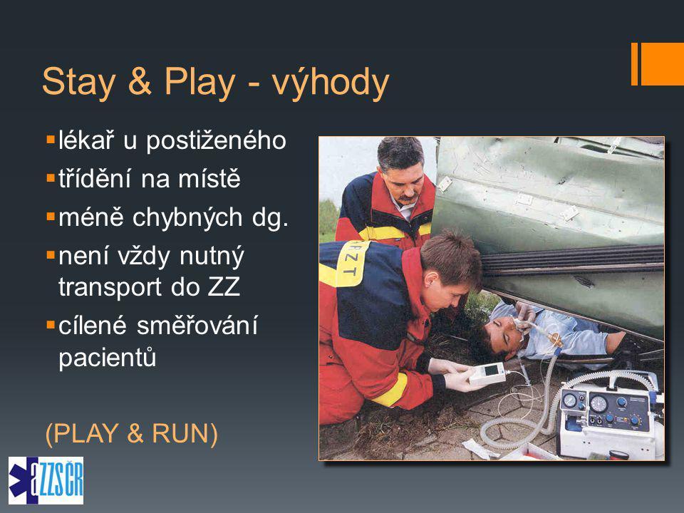 Stay & Play - výhody lékař u postiženého třídění na místě