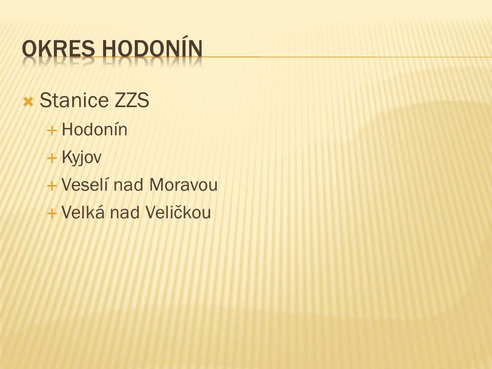 Okres Hodonín Stanice ZZS Hodonín Kyjov Veselí nad Moravou