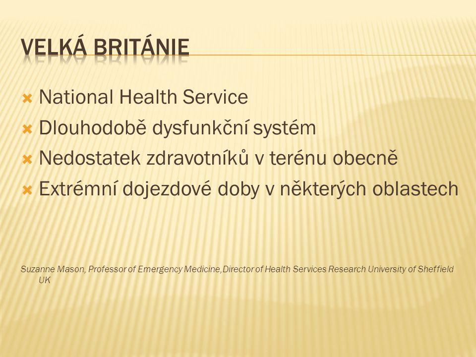 Velká Británie National Health Service Dlouhodobě dysfunkční systém