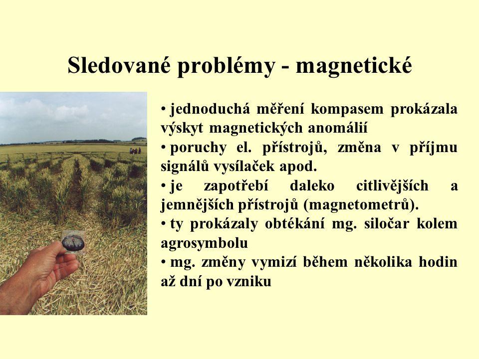 Sledované problémy - magnetické