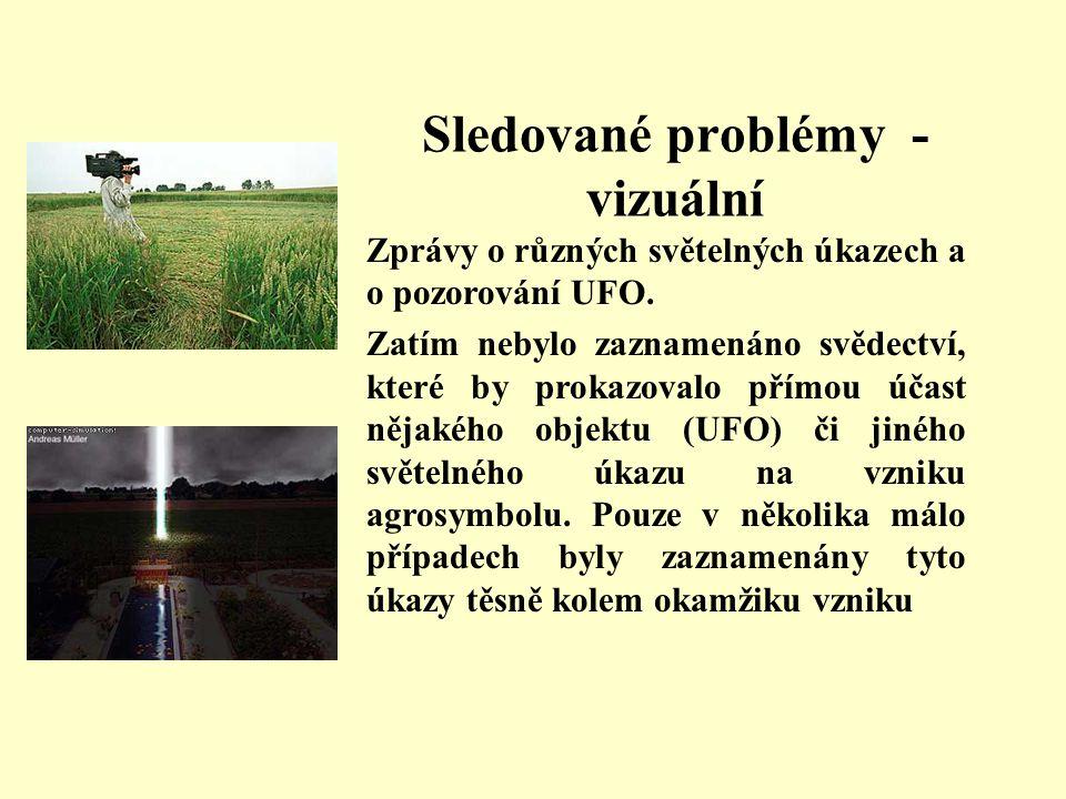 Sledované problémy - vizuální