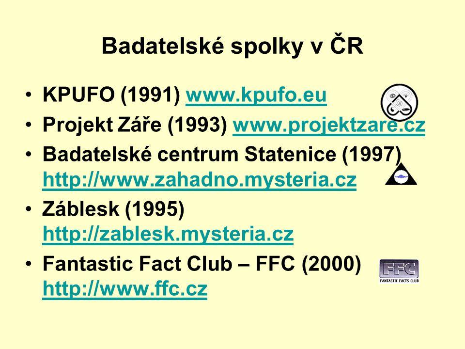 Badatelské spolky v ČR KPUFO (1991) www.kpufo.eu