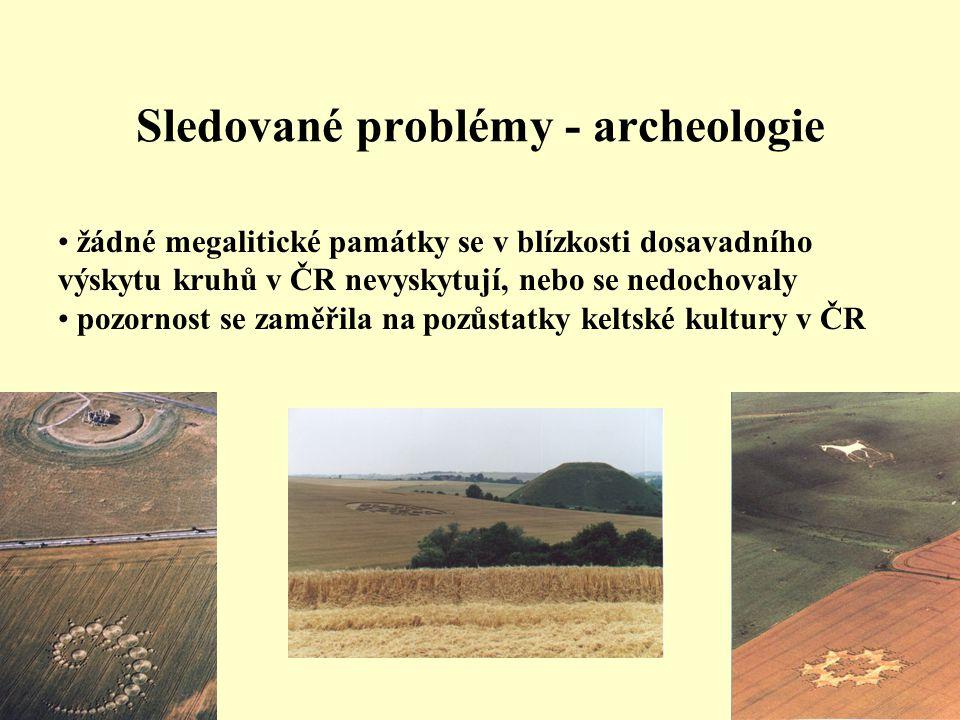 Sledované problémy - archeologie
