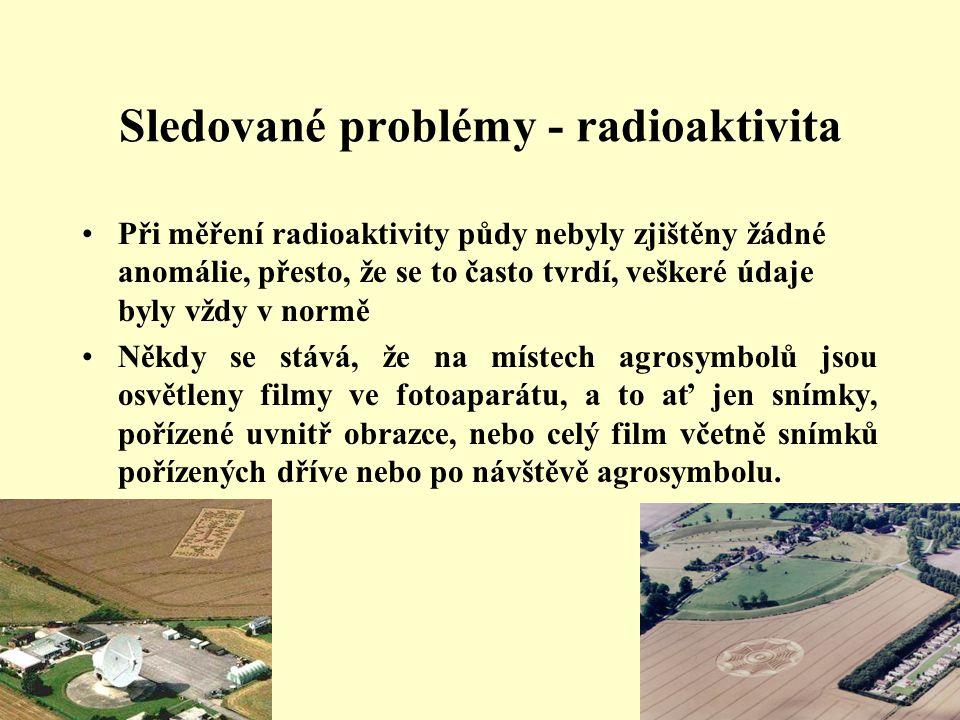 Sledované problémy - radioaktivita