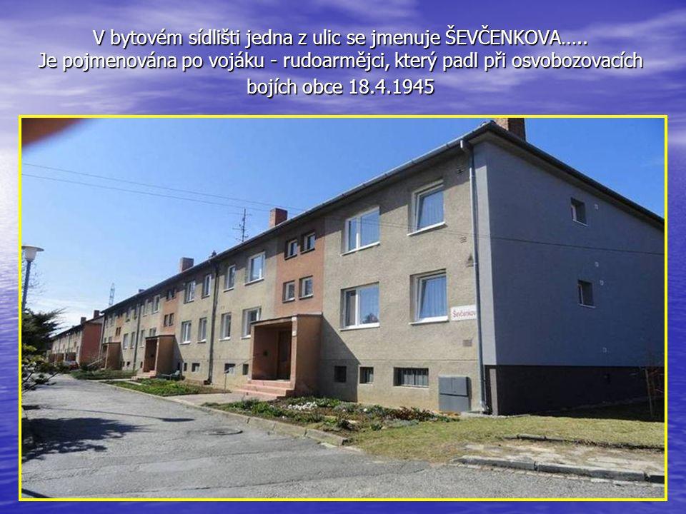 V bytovém sídlišti jedna z ulic se jmenuje ŠEVČENKOVA…
