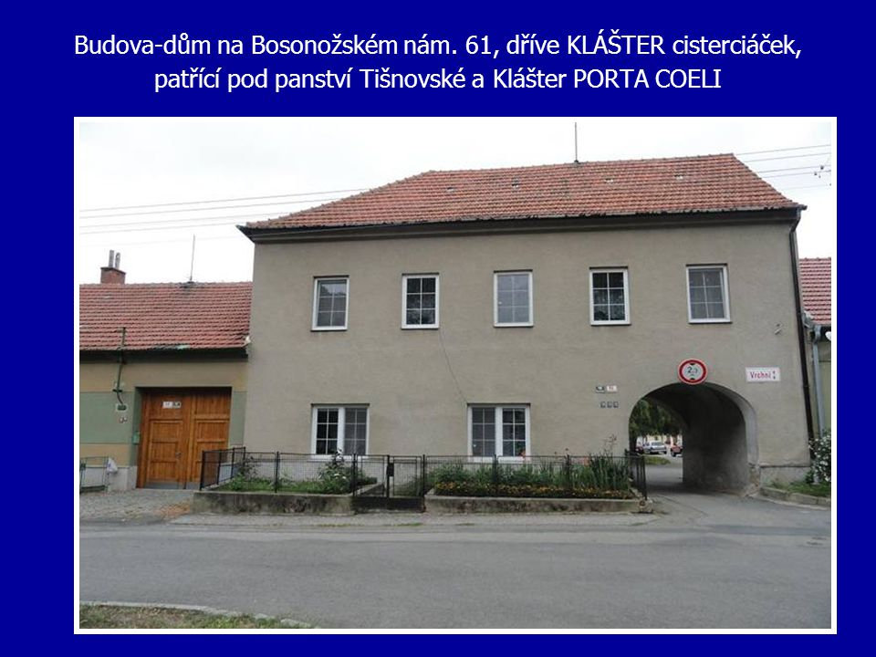 Budova-dům na Bosonožském nám