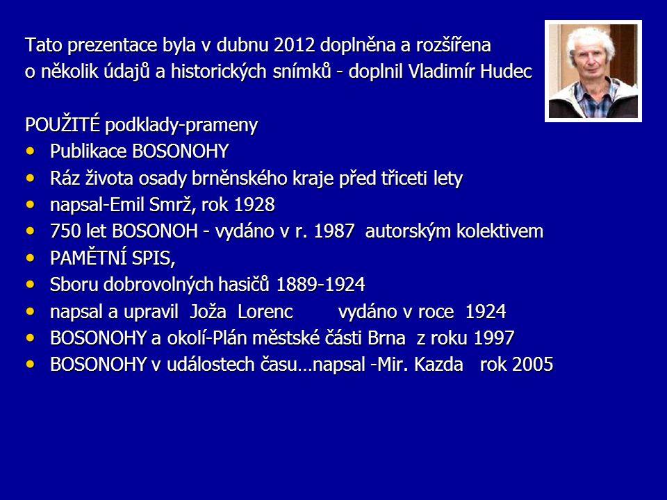 Tato prezentace byla v dubnu 2012 doplněna a rozšířena