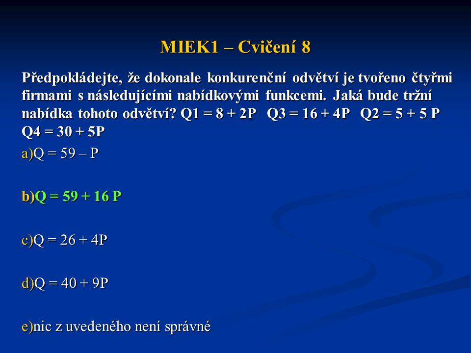 MIEK1 – Cvičení 8