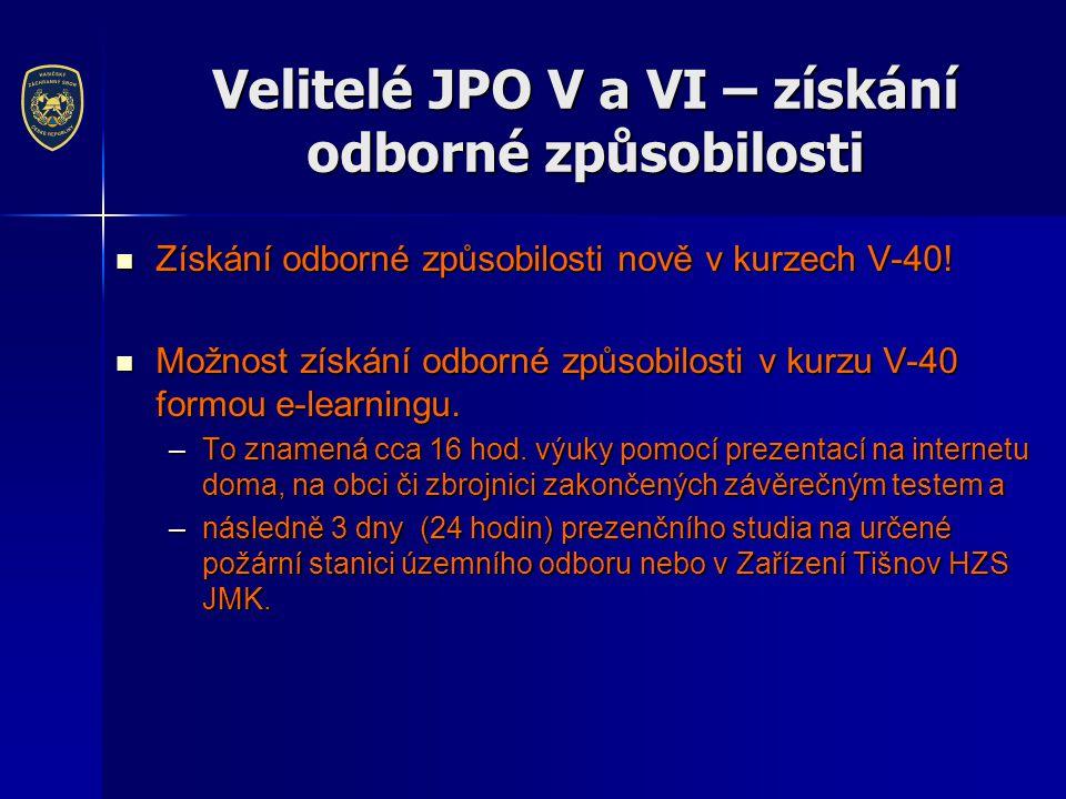 Velitelé JPO V a VI – získání odborné způsobilosti