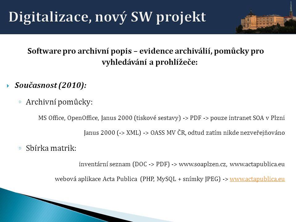 Digitalizace, nový SW projekt
