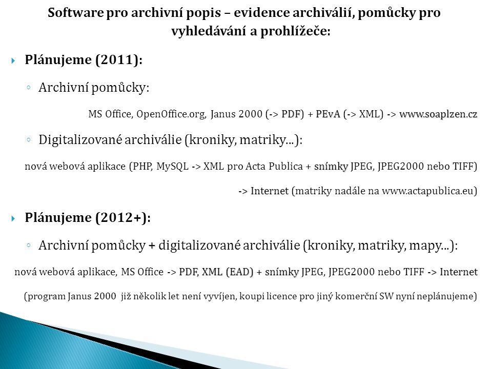 Digitalizované archiválie (kroniky, matriky...):