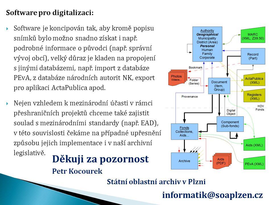 Děkuji za pozornost informatik@soaplzen.cz Software pro digitalizaci: