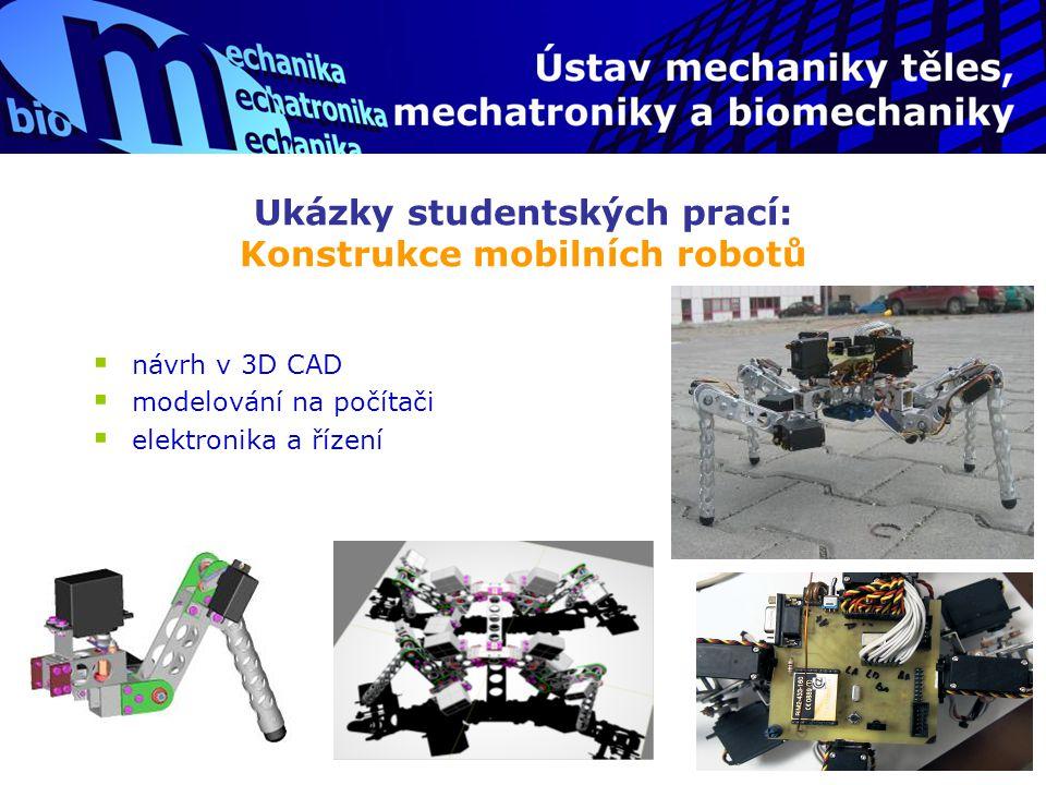 Ukázky studentských prací: Konstrukce mobilních robotů