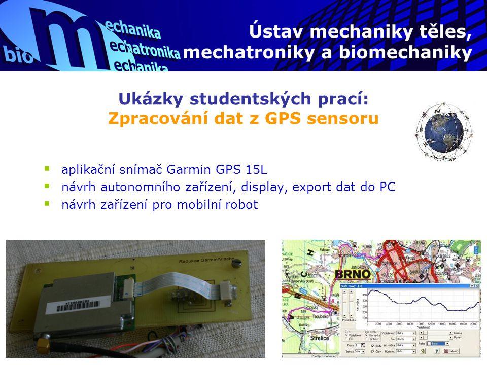 Ukázky studentských prací: Zpracování dat z GPS sensoru