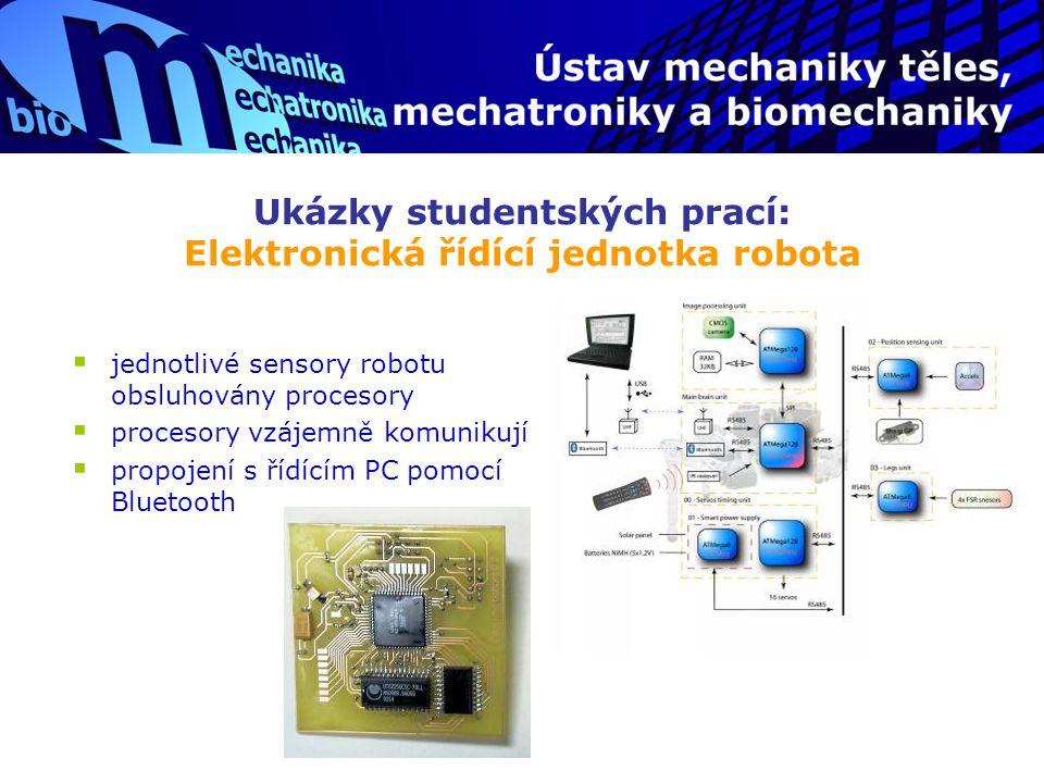 Ukázky studentských prací: Elektronická řídící jednotka robota