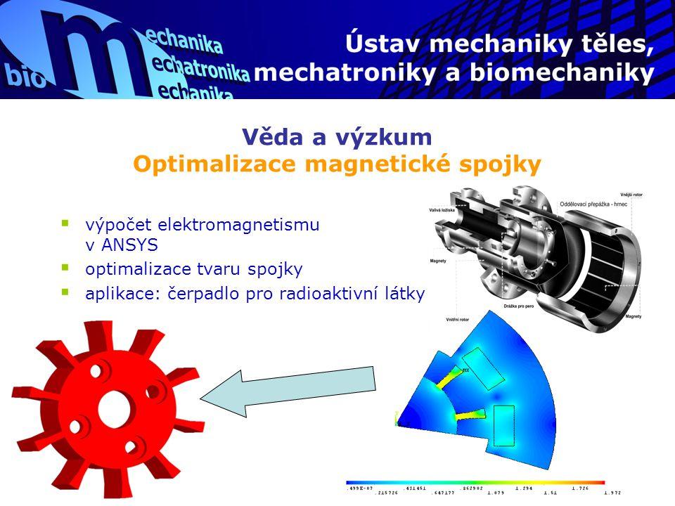 Věda a výzkum Optimalizace magnetické spojky