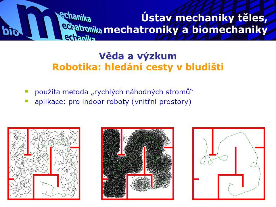 Věda a výzkum Robotika: hledání cesty v bludišti
