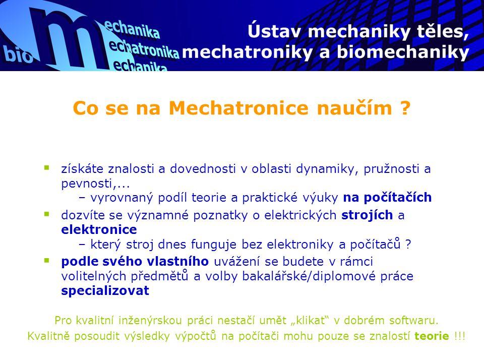 Co se na Mechatronice naučím