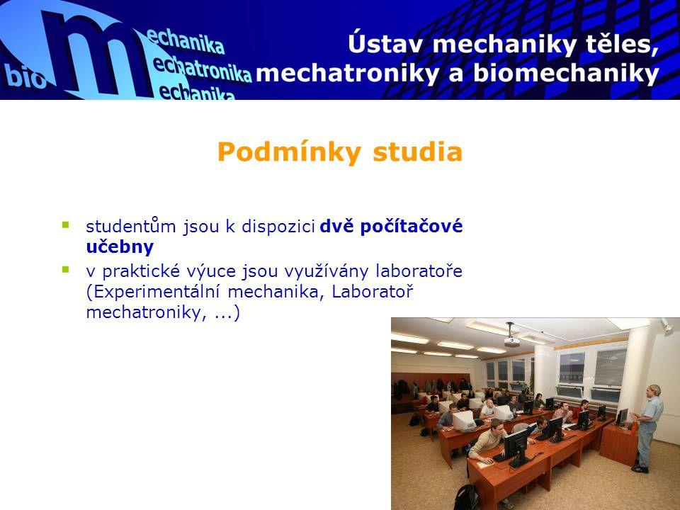 Podmínky studia studentům jsou k dispozici dvě počítačové učebny