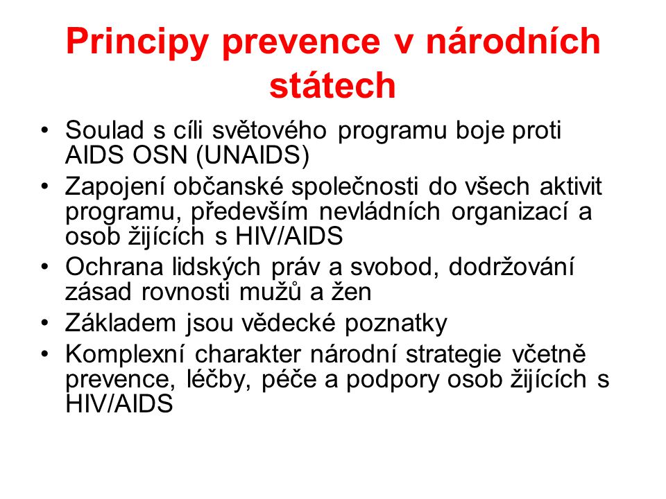 Principy prevence v národních státech