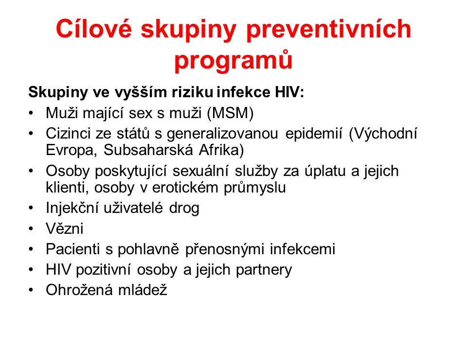Cílové skupiny preventivních programů
