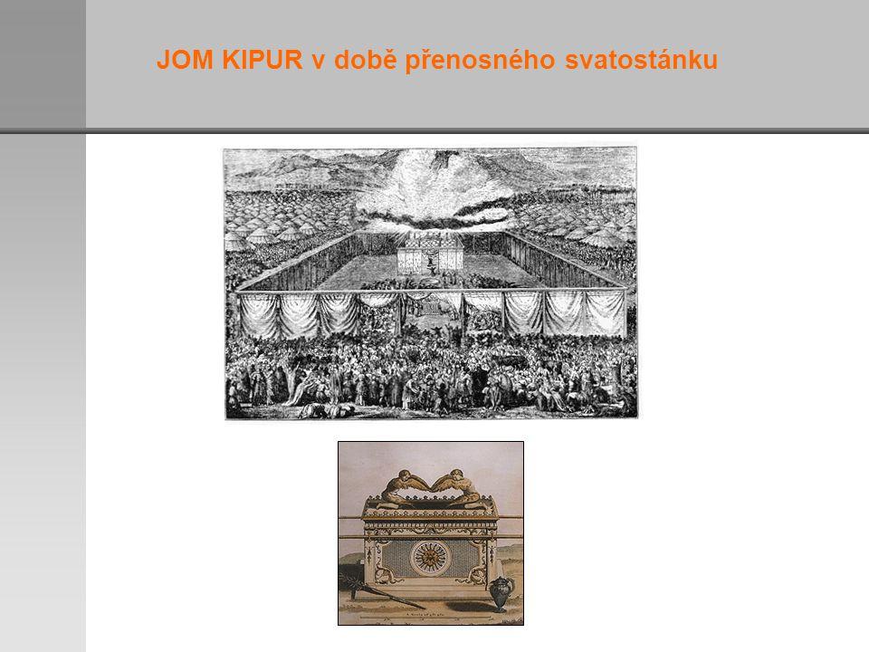 JOM KIPUR v době přenosného svatostánku
